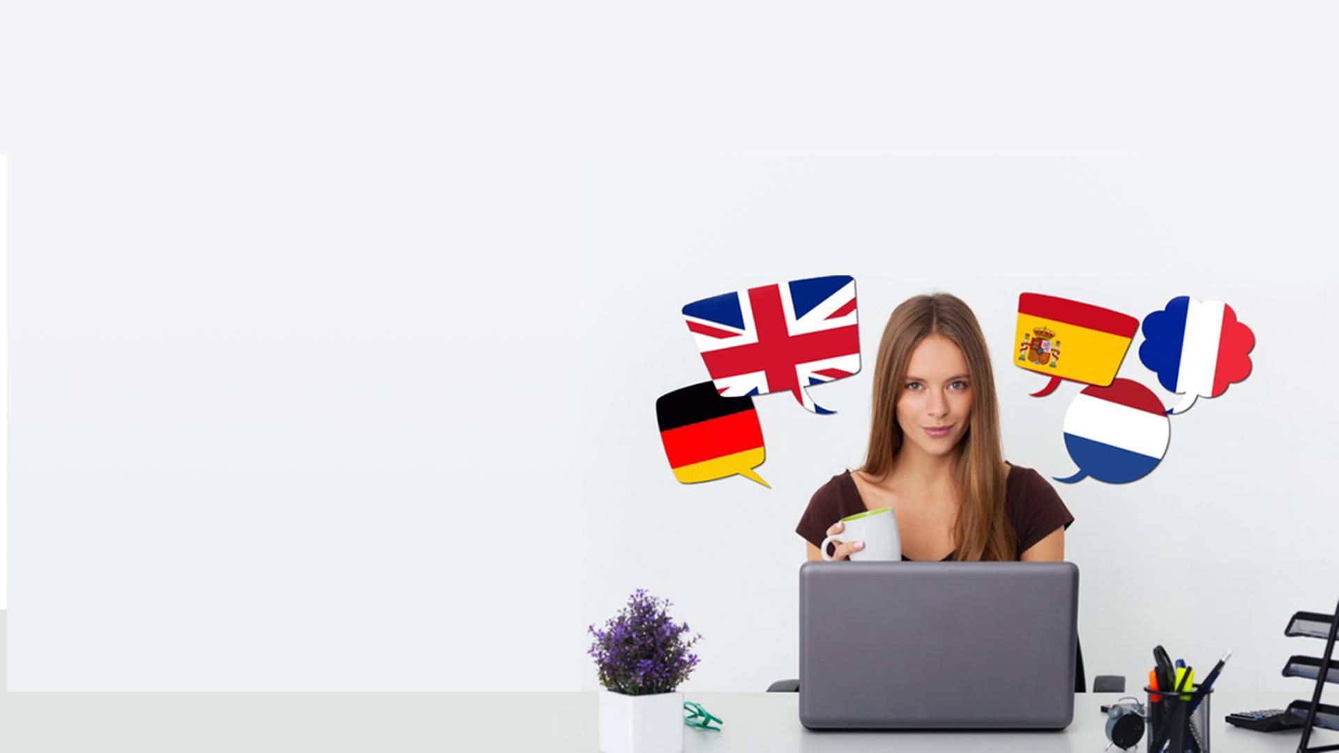 """<span style=""""color: #fff;"""">Langues étrangères</span> <h4 style=""""color: #fff;""""> Français – Anglais – Espagnole – Italien – Allemand – Néerlandais</h4><br/>"""